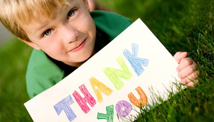When kids learn gratitude, they grow uphappier